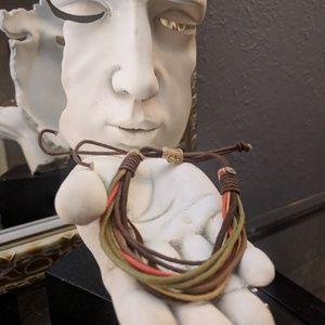 Jewelry - FREE w any Purchase! Leatherish pull bracelet